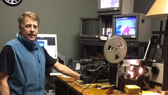 Steve, Production Supervisor, working away transferring old media to new media for our customers.