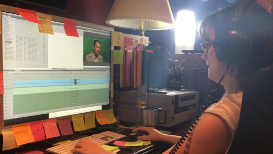 Melissa, Editor, hard at work editing Sandler Training testimonials.