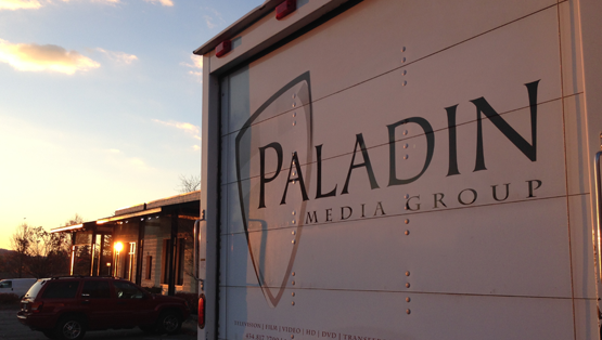 Admiring our Paladin Media Group Box truck in the sunset.